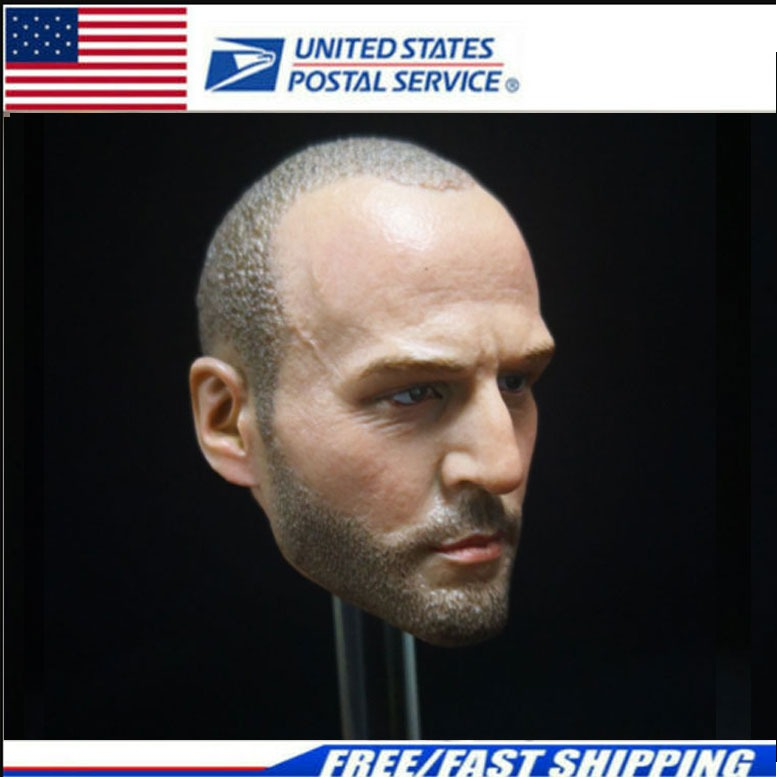 "Custom 1//6 The Expendables Jason Statham HeadSculpt fit 12/"" Male figure body"