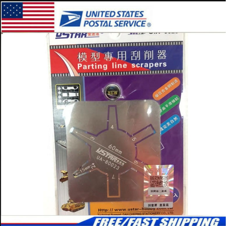 USTAR U.A-80021 Steel Parting Line Scraper Tool for Aircraft Vehicle Making