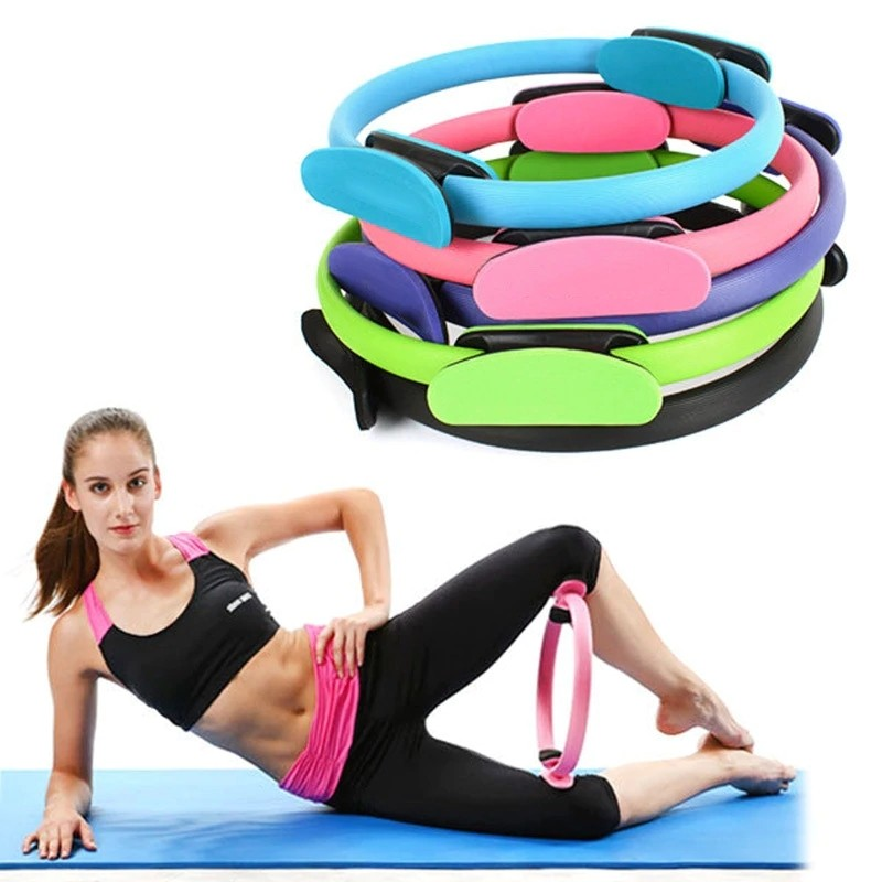 Exercise Fitness Circle Yoga Resistance for Gym//Home Sport Workout Pilates Ring