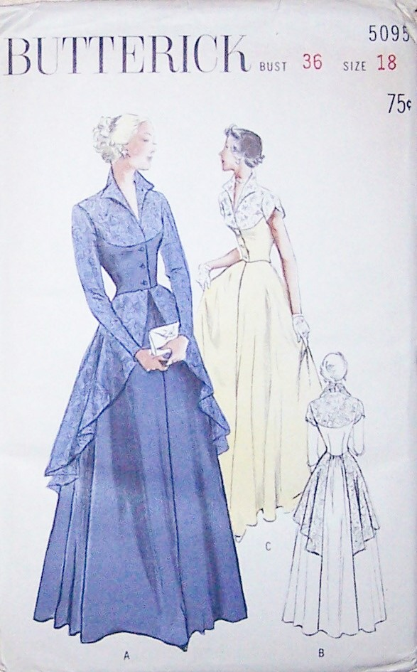 Rare Vintage Evening Gown Sewing Patterns 5095 Size 18 | eBay
