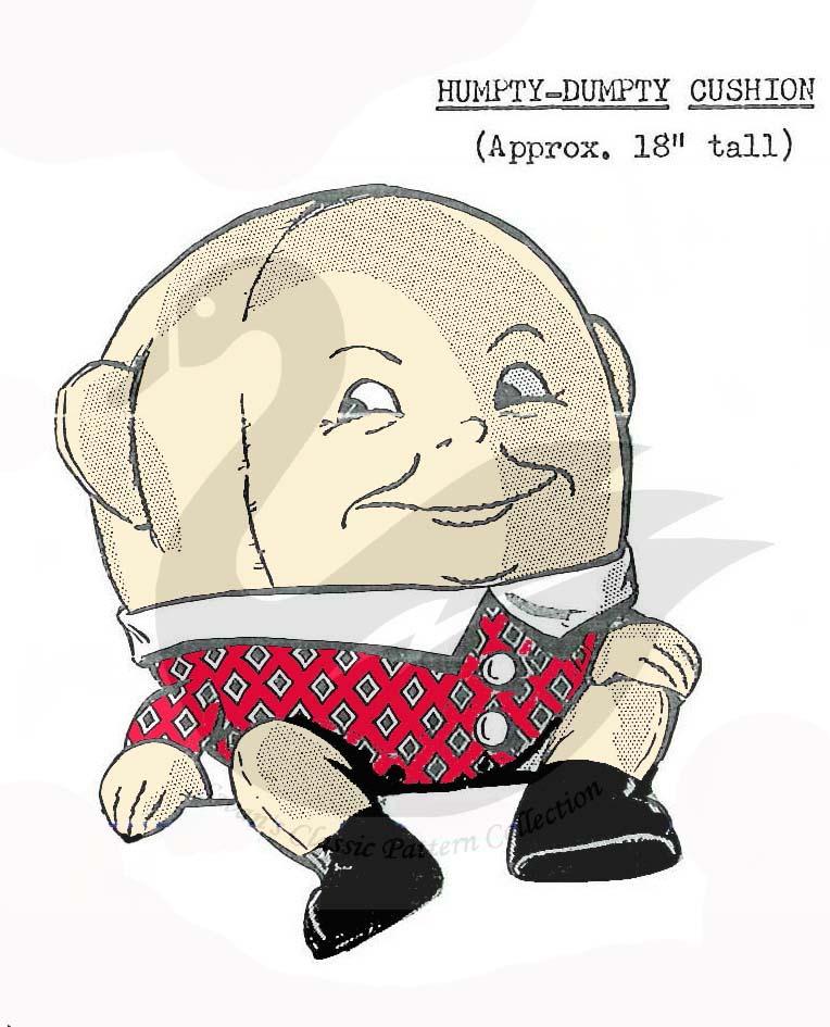 Vintage Humpty Dumpty Cushion Sewing pattern 18\