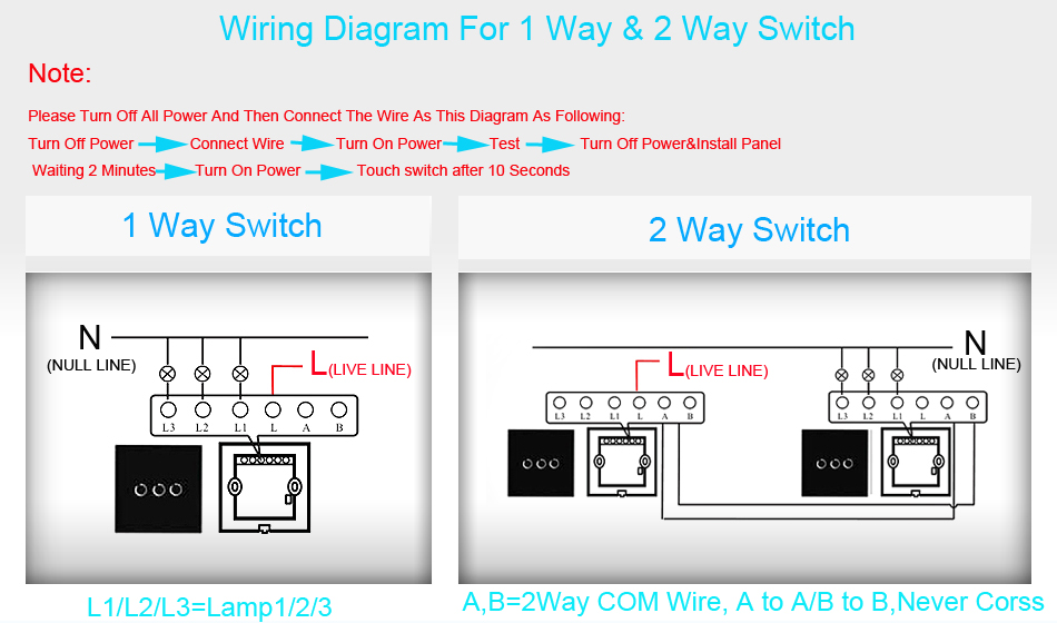 3gang 1 2way light remote touch switch white class panel led | ebay  touch  lamp control switch wiring diagram