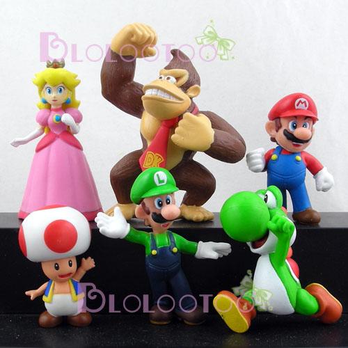 Set Nintendo Super Mario Bros Yoshi Donkey Figure 6pcs