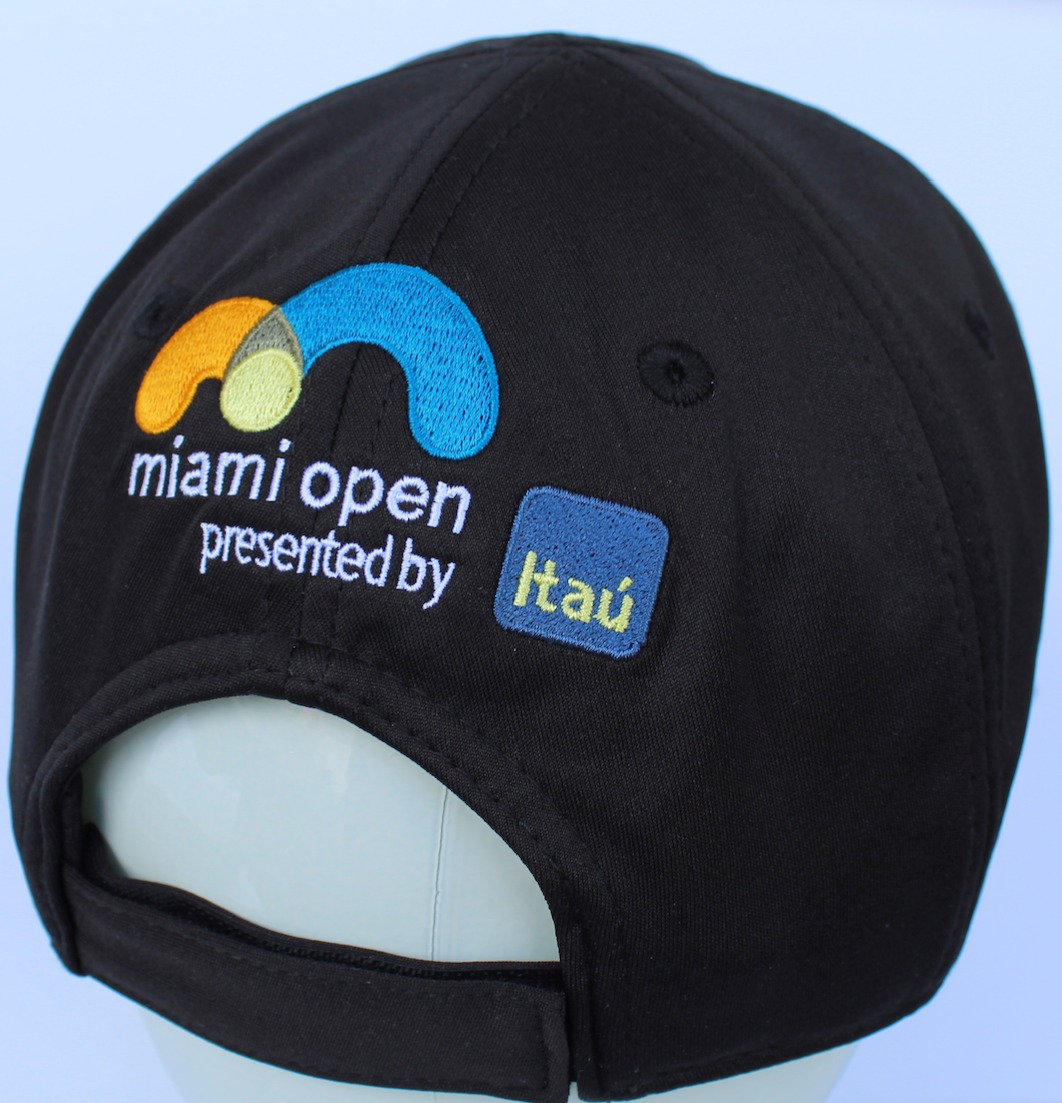 45fbd2a34 Details about LACOSTE UNISEX MIAMI OPEN TECHNICAL JERSEY TENNIS CAP in  BLACK, Size M BNWT $60