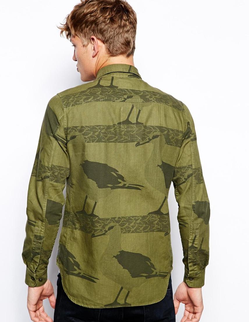 a4dc6d6f573ea Details about G Star RAW ISLANDER Albatross Repeat Print Shirt