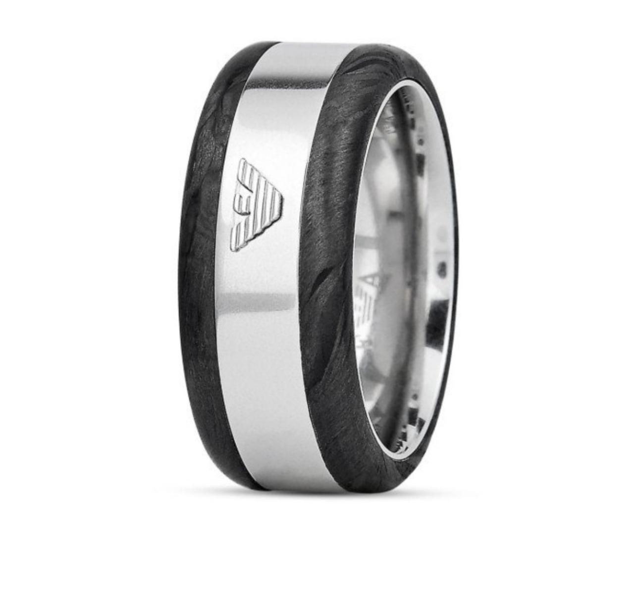 9956fb0fbf3aa Emporio Armani EGS2184040 Deco Barrel Eagle Logo Ring