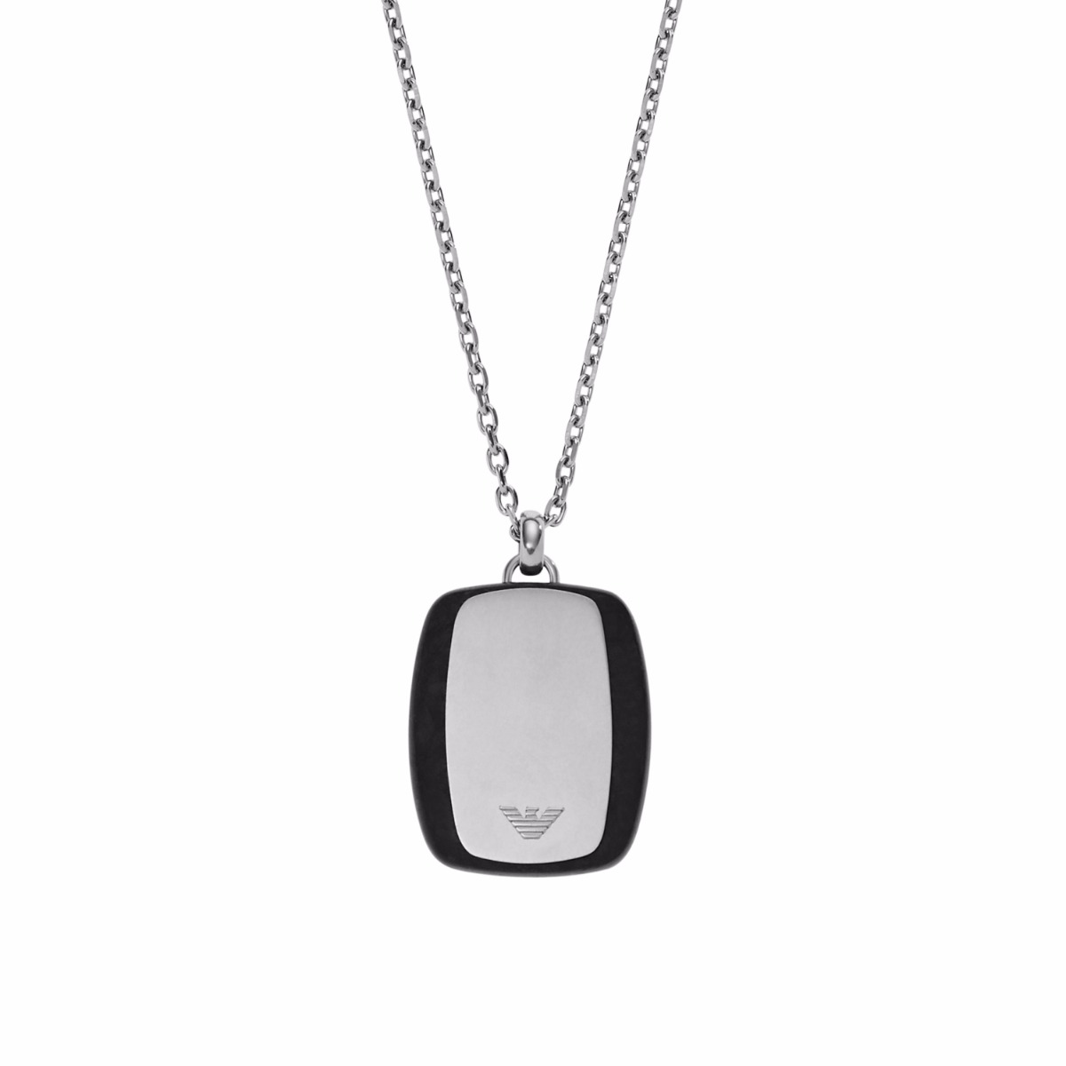 Details about Emporio Armani Men's Two-Tone Dog Tag Logo Pendant Necklace  EGS2187, in Gift Box