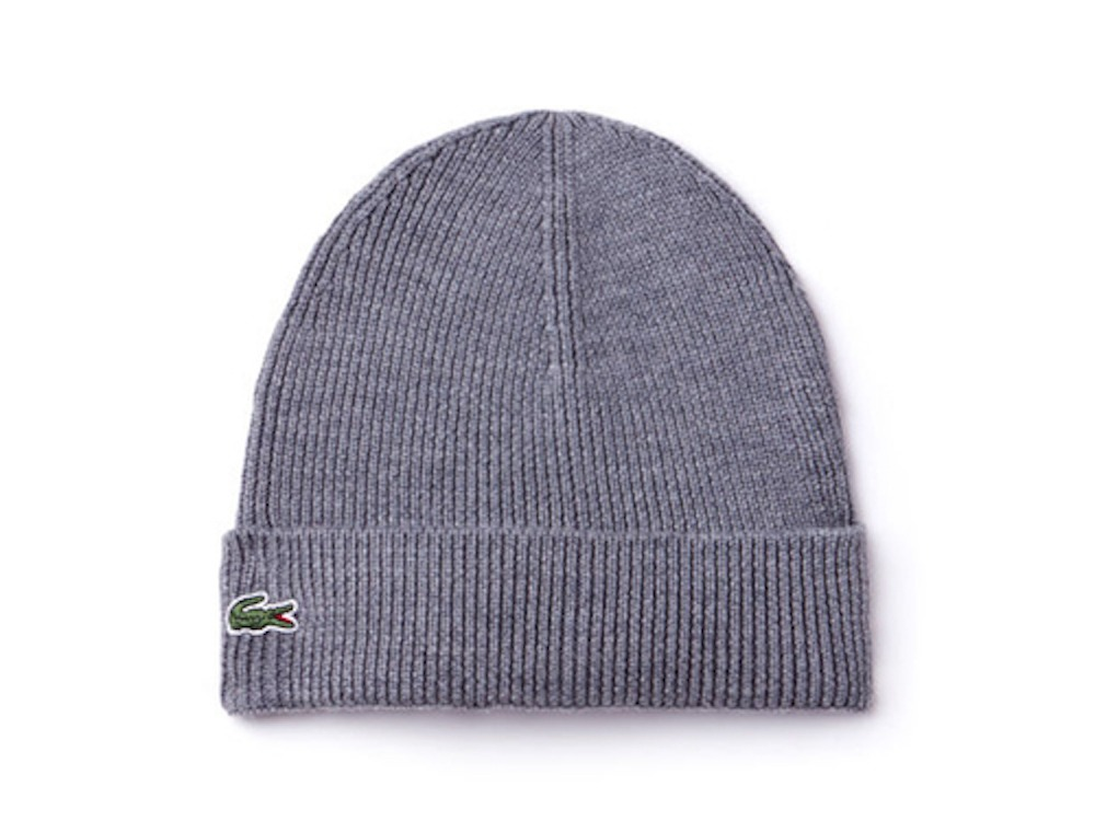 9beab9f93ad0f Details about Lacoste Unisex Rib Wool Beanie