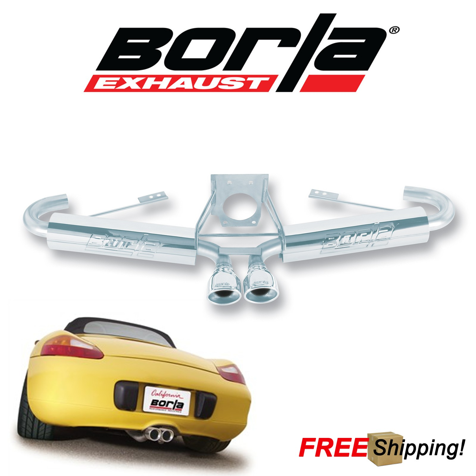 Details About Borla S Type Cat Back Performance Dual Exhaust Kit For 00 04 Porsche Boxster 32