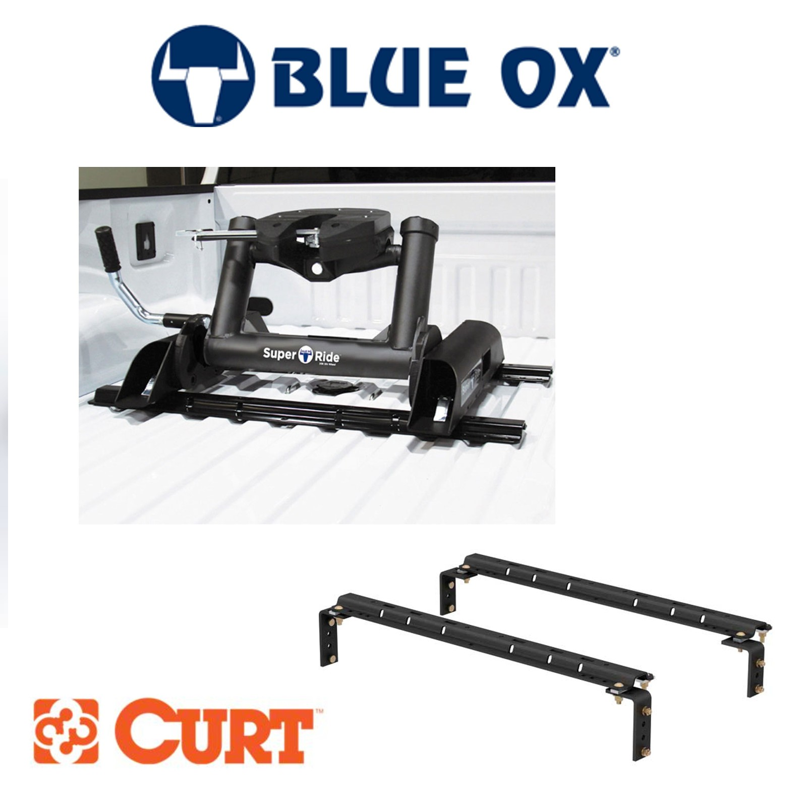 Details About Blue Ox Superride 20k 5th Wheel Hitch Slider Curt Universal Bed Rail Kit Combo