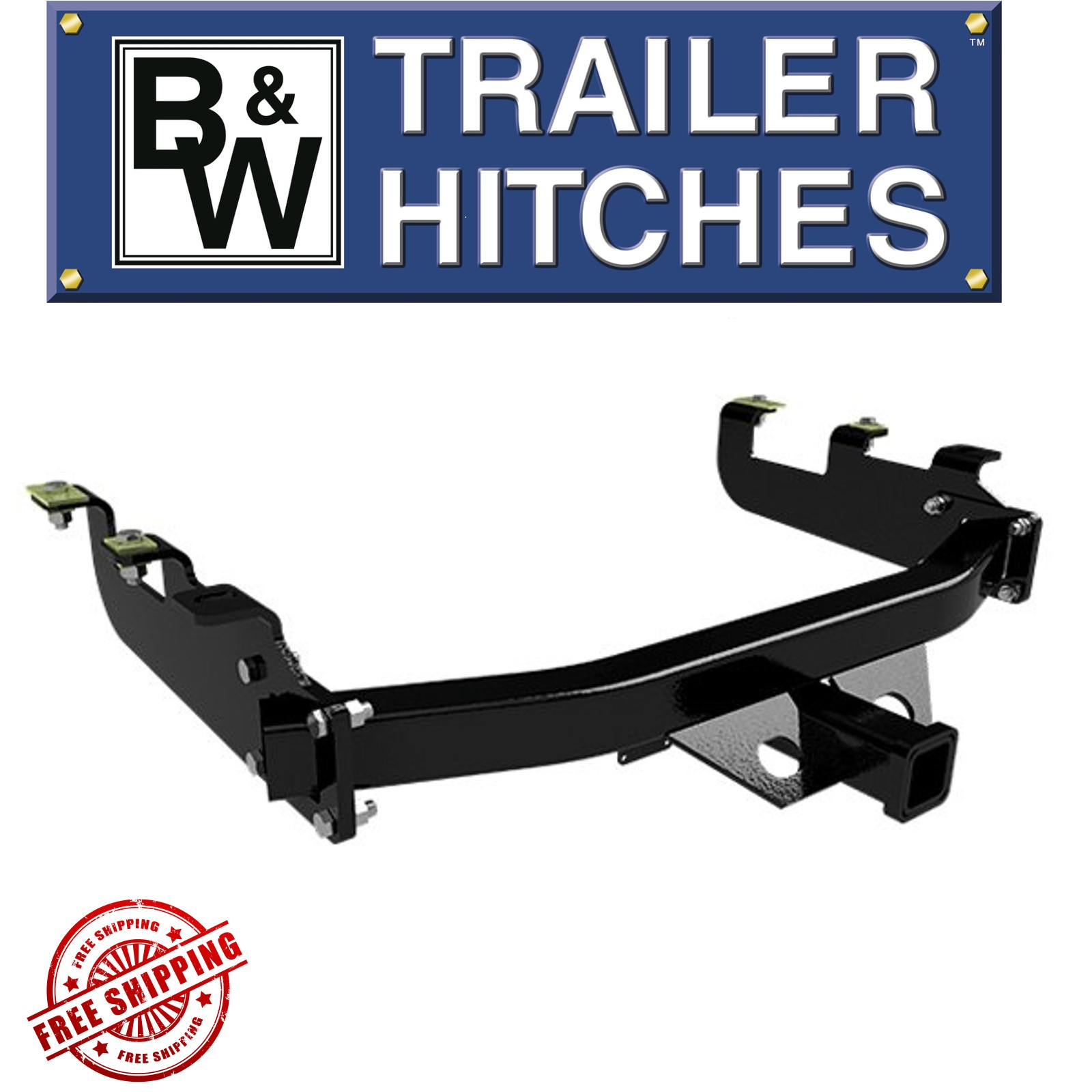 BW Heavy Duty Reciever Hitch 16000 GTW Fits 1999-2010 Ford HD Pickup Truck