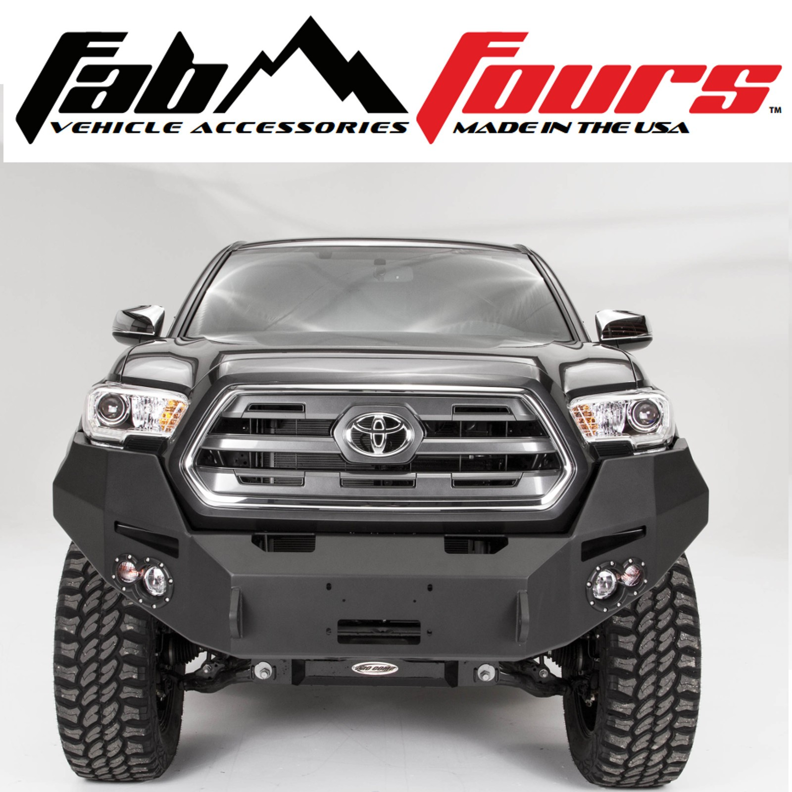 Fab Fours Base Premium Hd Front Winch Bumper For 2016 2019 Toyota