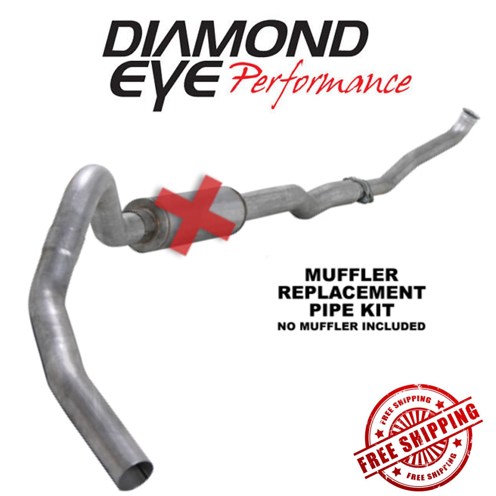 "Diamond Eye 4/""Aluminized Turbo-Back Exhaust Kit No Muffler K4102A-RP"