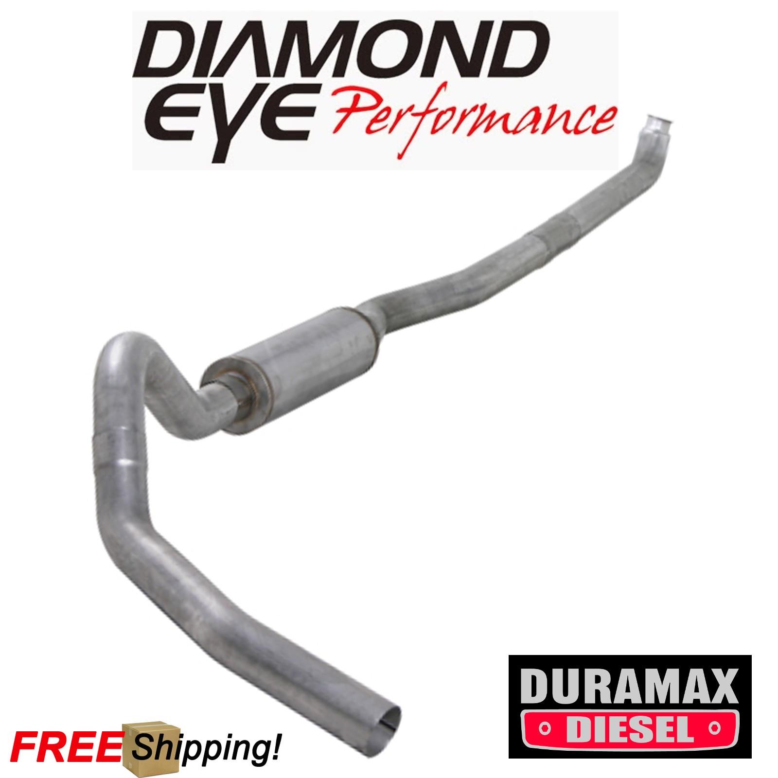Details about Diamond Eye 4 Inch Turbo Back Exhaust 01-07 Silverado 6 6L  Duramax W/ Muffler