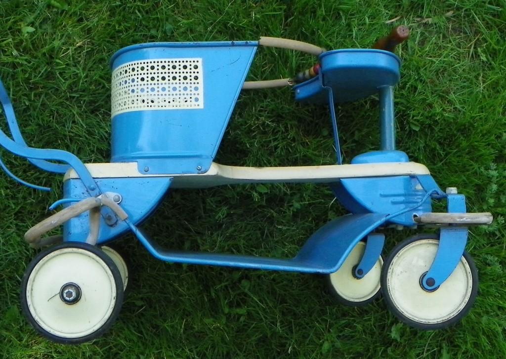 Taylor Tot Baby Stroller Vintage Old 50s Metal Wood Handle