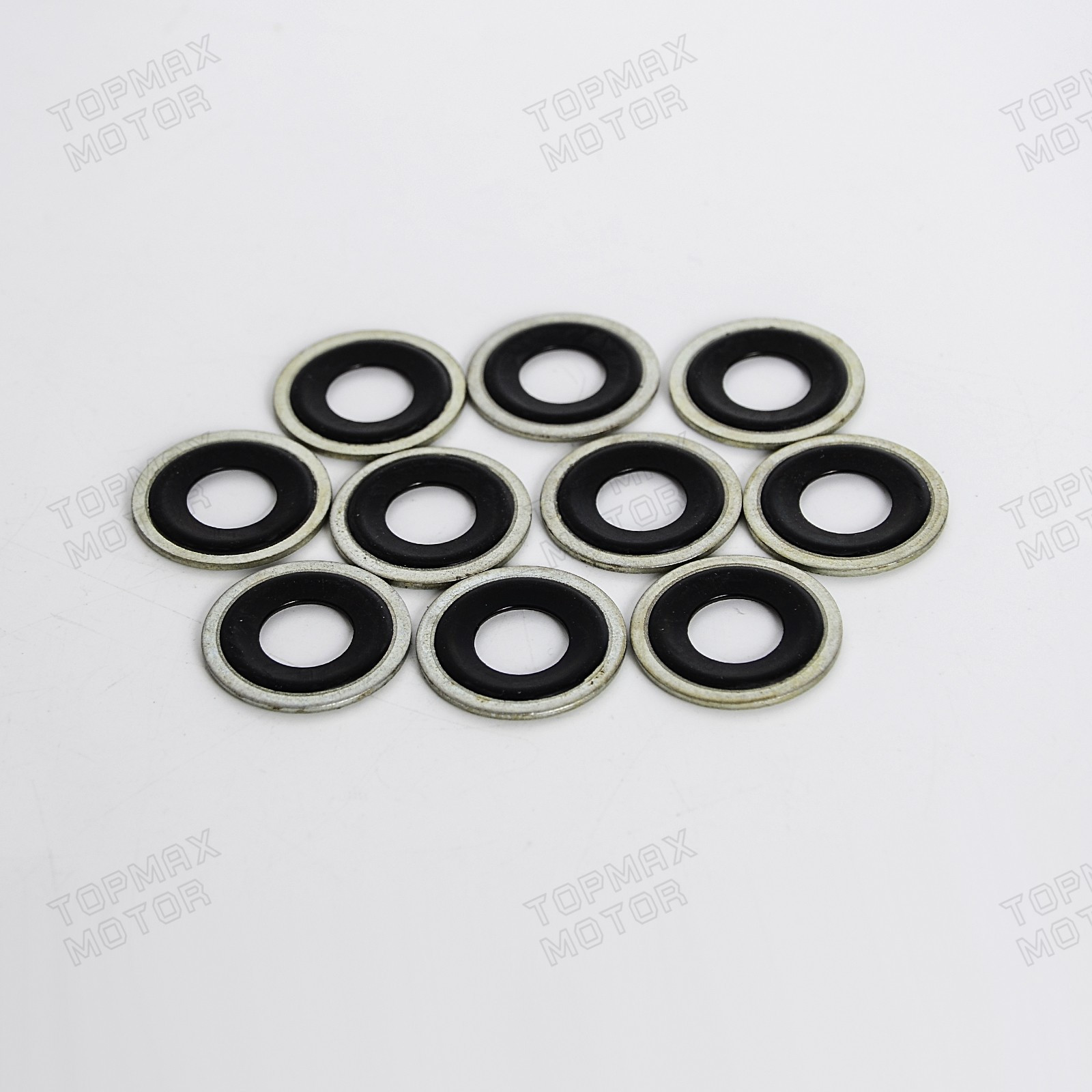 65274 10PCS Metal Rubber Oil Drain Plug Crush Washer Gaskets 5741252 For Buick