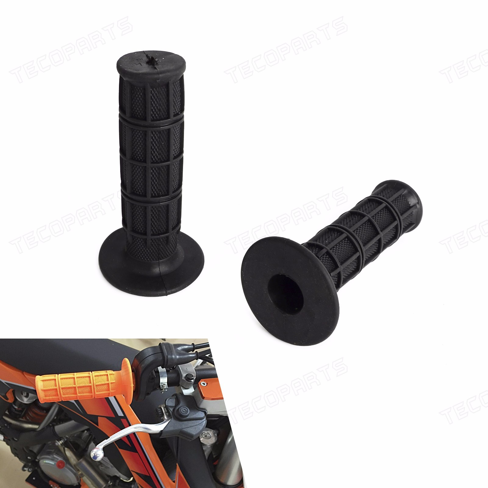 """Universal 7//8/"""" Soft Rubber Hand Grips White for Pit ATV MX Dirt Bike Motorcycle"""