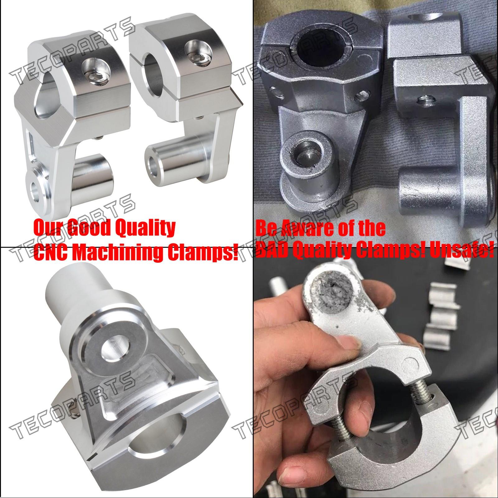 1-1//8/'/' Pivot CNC Handlebar Riser Clamp 4 Yamaha Vmax,KTM 690//990,Ducati,Triumph