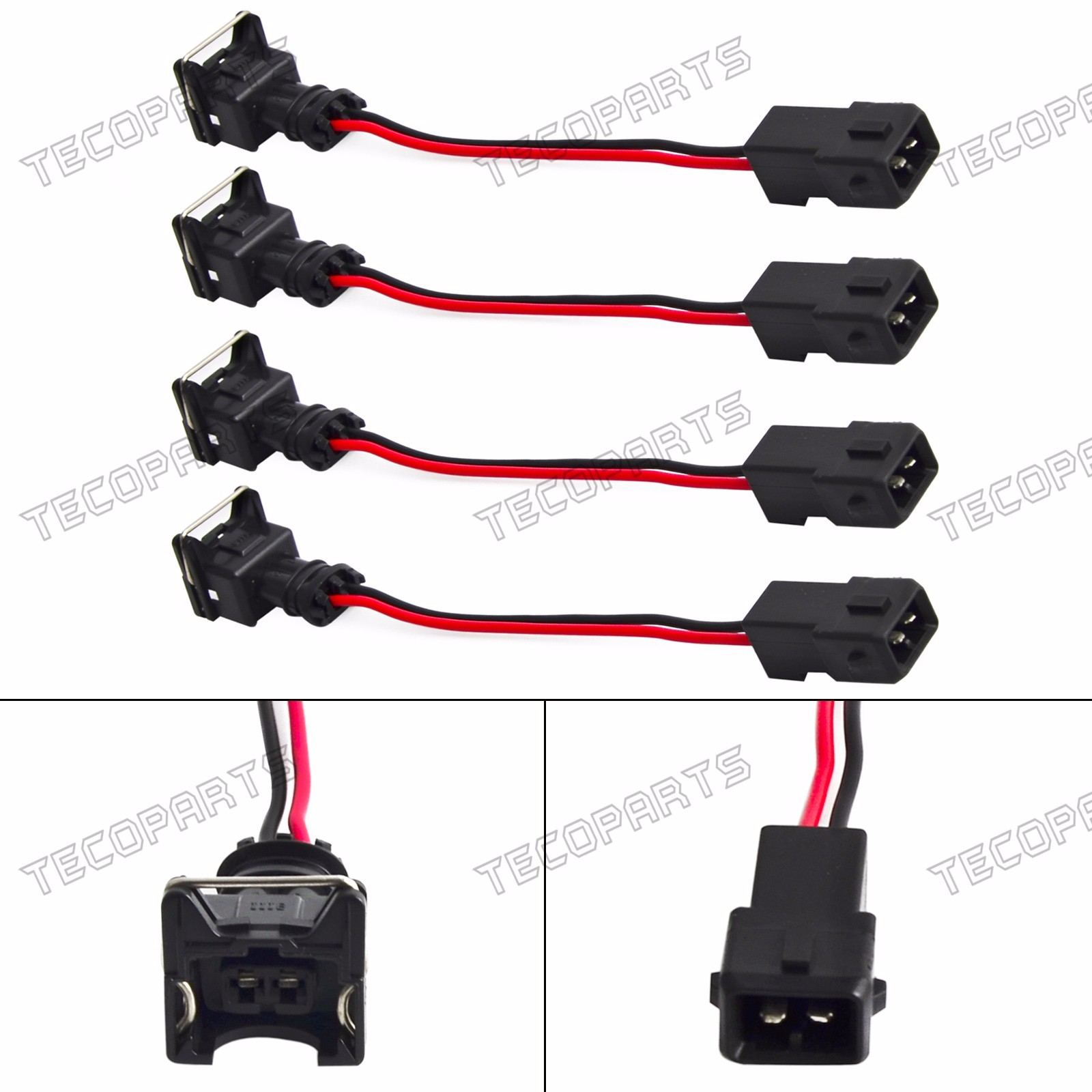 Details about 4 x Fuel Injector Conversion Harness for Obd2 To Obd1 EV1  Honda Acura RC Adapter
