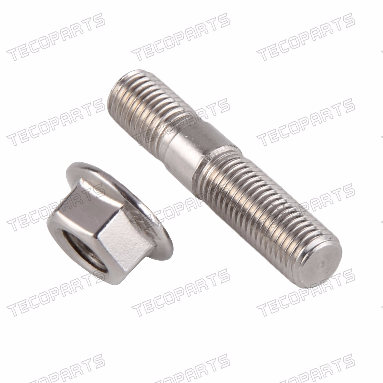8x M10x1.25 Exhaust Stud /& Serrated Nuts Manifold Flange For Toyota Nissan Honda