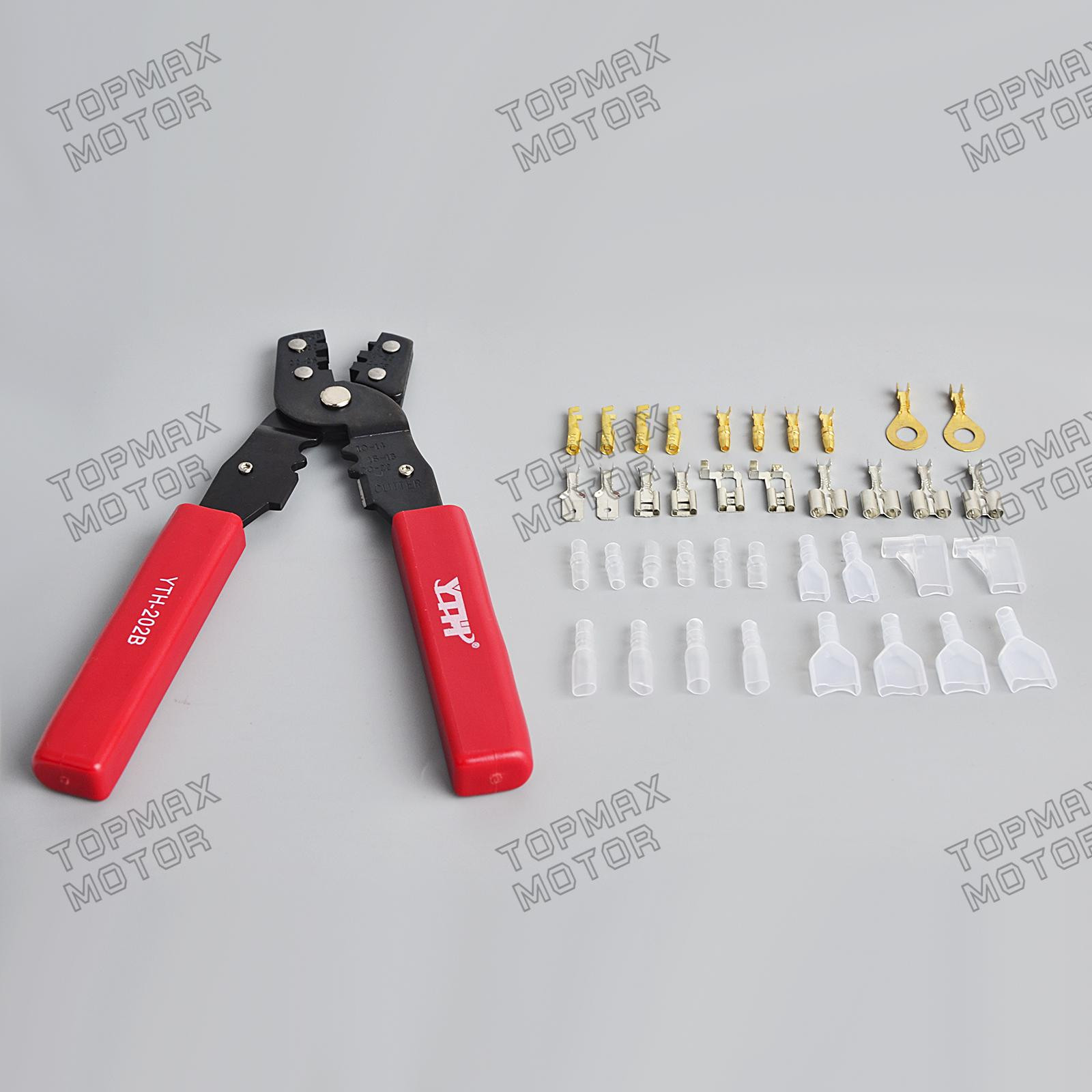Insulated Crimp Terminal Crimping Hand Crimper Tool Pliers 3.9mm ...