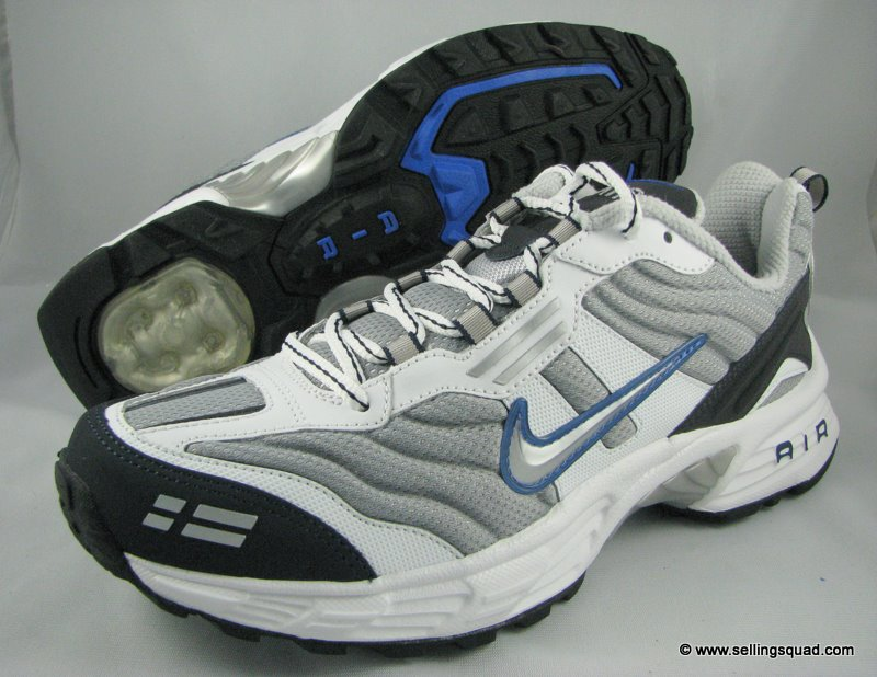 New Nike Air Copious Mens Running Shoes White Gray Blue Ebay