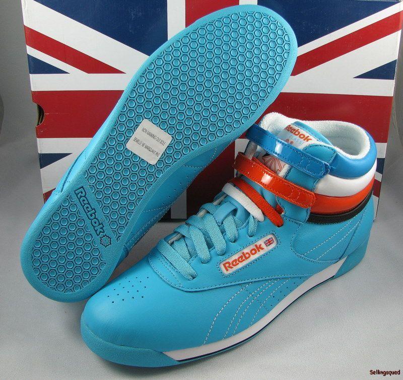 28aa6613664a  65 NEW REEBOK Classic Freestyle Hi Flow Blue White -  39.99