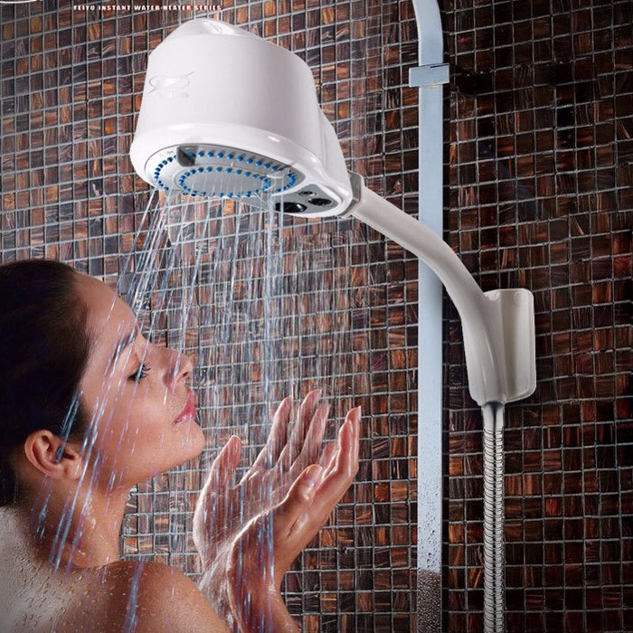 240v Portable Electric Hot Water Heater Shower Head