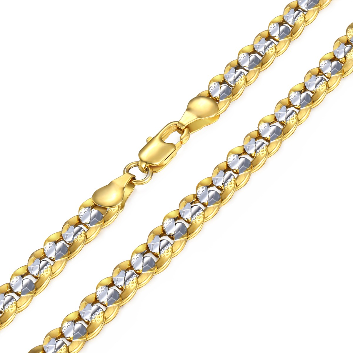 6mm silver gold chain necklaces for women mens curb link gold filled 6mm silver gold chain necklaces for women mens aloadofball Choice Image