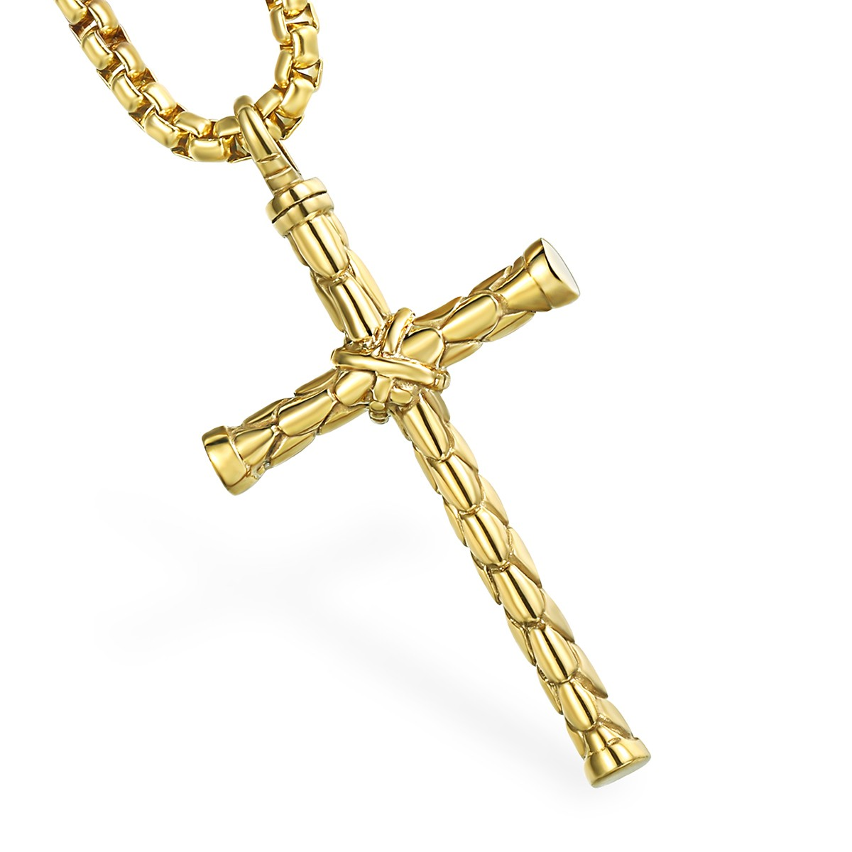 Fashion week Rope Gold chain with cross for men for lady