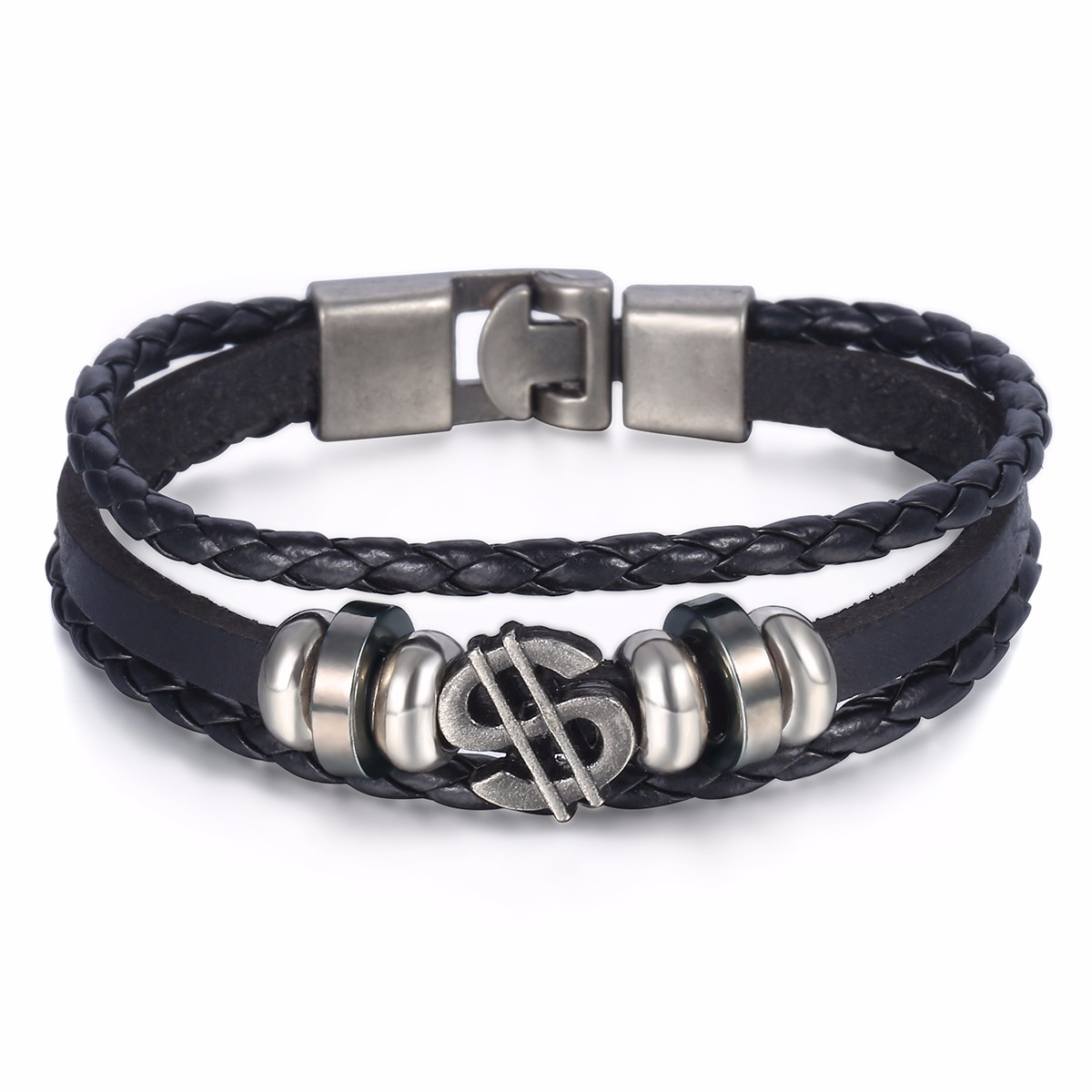 anchor rope ac bracelet crew si mens kedge all silver black jewellery bracelets