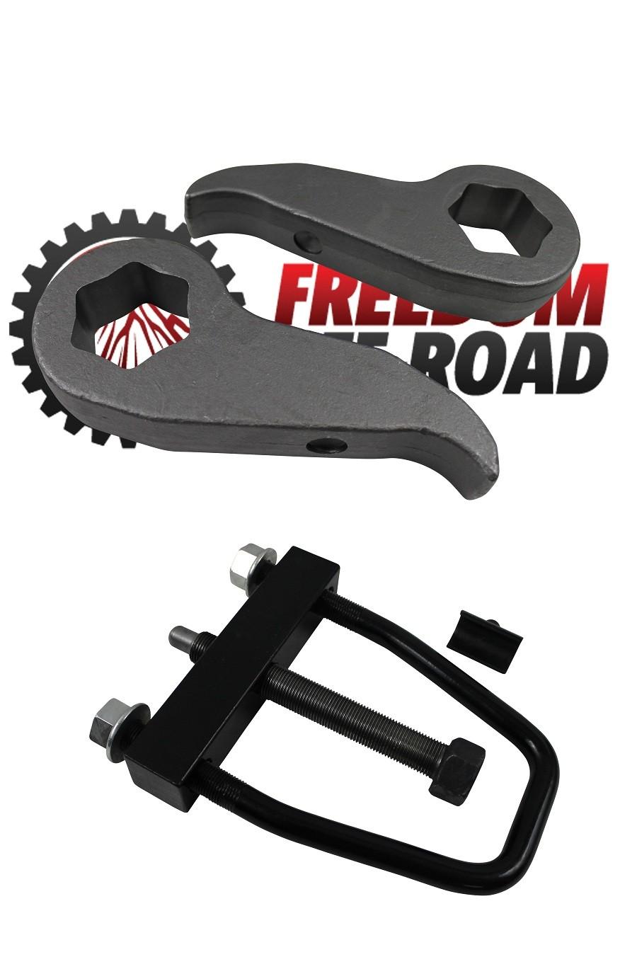 Install Tool Freedom Offroad 2000-2010 CHEVY GMC 2500 3500 HD Torsion Keys Shock Extenders