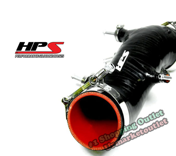 Black HPS Silicone Air Intake Post MAF Hose for Toytoa Supra 86-92 3.0L 7M-GTE