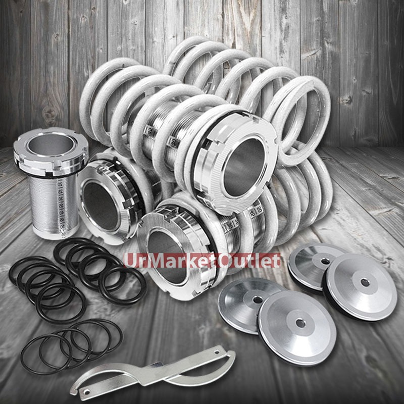 Front/Rear Scaled Coilover White Lowering Spring Kit For
