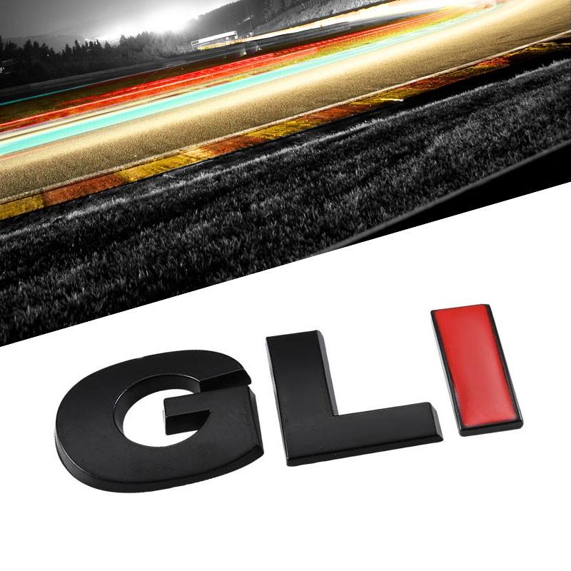 Red//Chrome GLI Trim Logo Sport Engine Car Trunk Badge Emblem Decal 3M Sticker