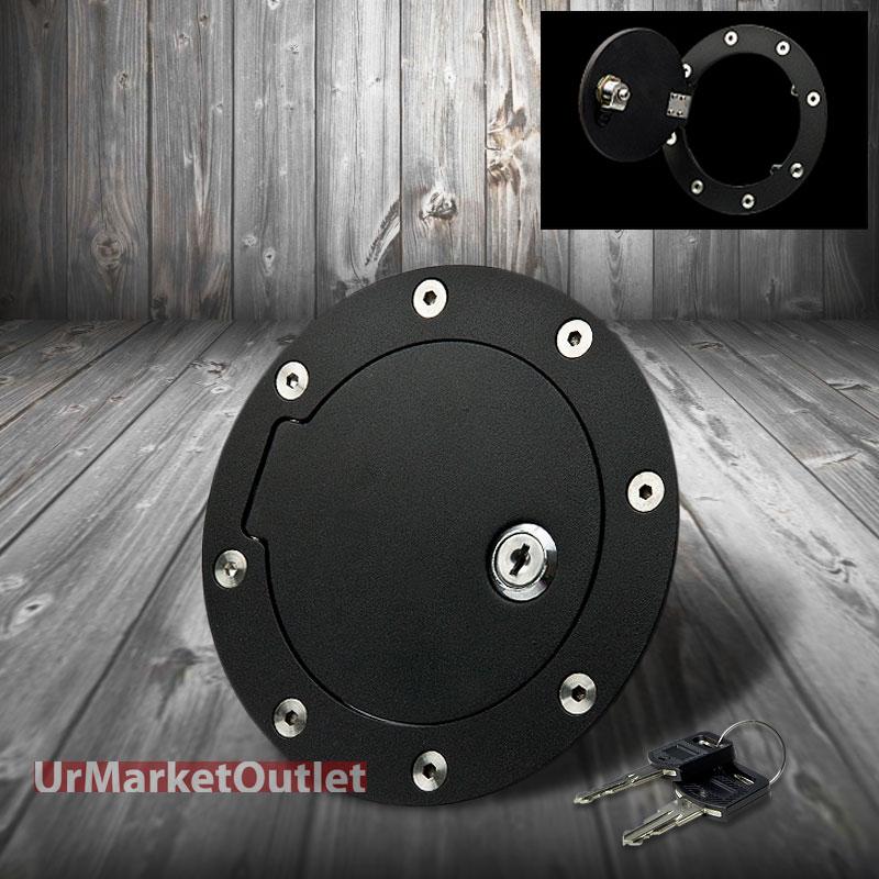 black bolt on gas fuel tank door cover cap lock key for 07. Black Bedroom Furniture Sets. Home Design Ideas