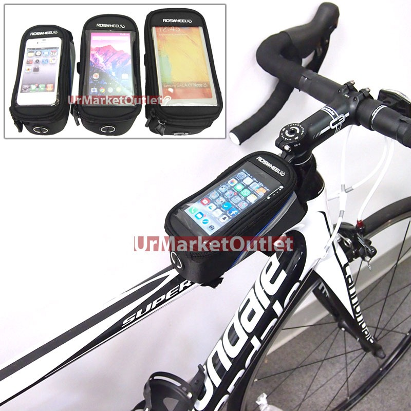 Universal Bicycle Bike Mount Carry Bag Holder Case Pouch Cable For