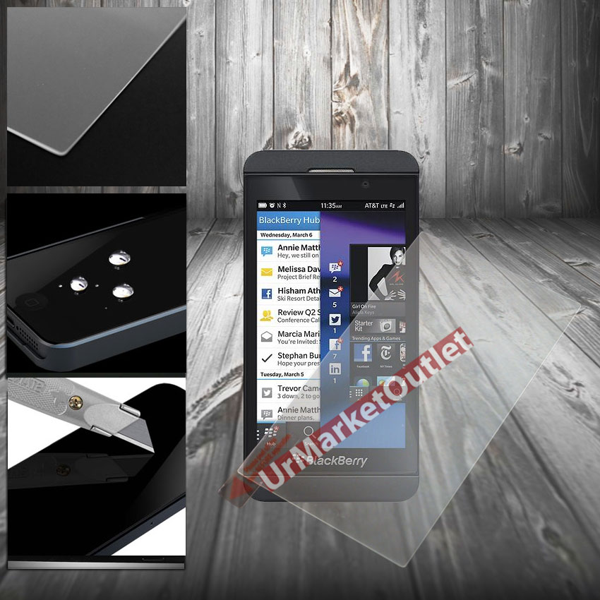 Clear Tempered Glass Anti Scratch Slim LCD Screen Protector Film Blackberry Z10