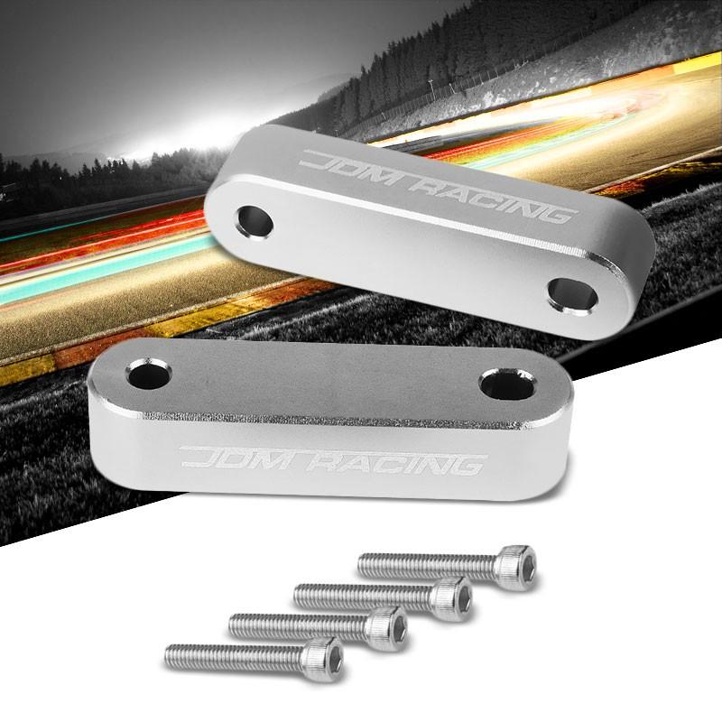 """Silver Front 7/8"""" Screw-On Aluminum Hood Riser Spacer Kit"""