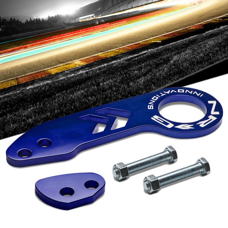 Tow in Style with NRG Rear Tow Hook TOW-110BL Blue with White NRG Logo