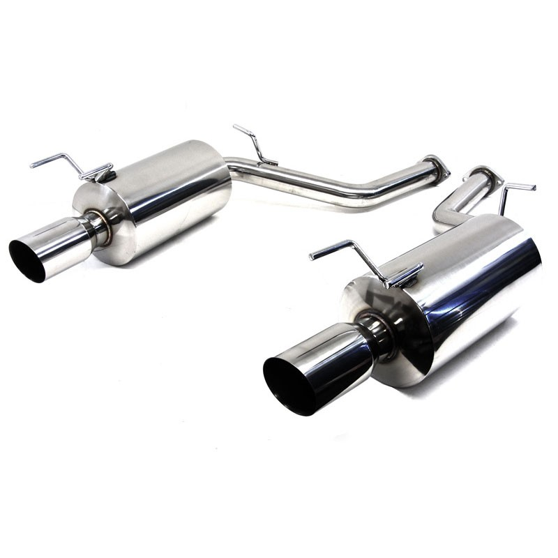 Tipless 2.5 Inlet//Outlet T-304 Stainless Steel Muffler Resonator Canister