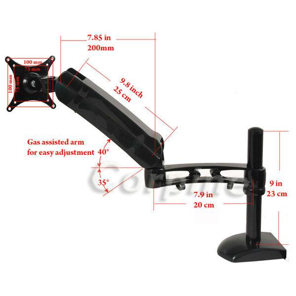 adjustable lcd tv monitor desk mount 15 17 19 21 22 23 24 26 m20