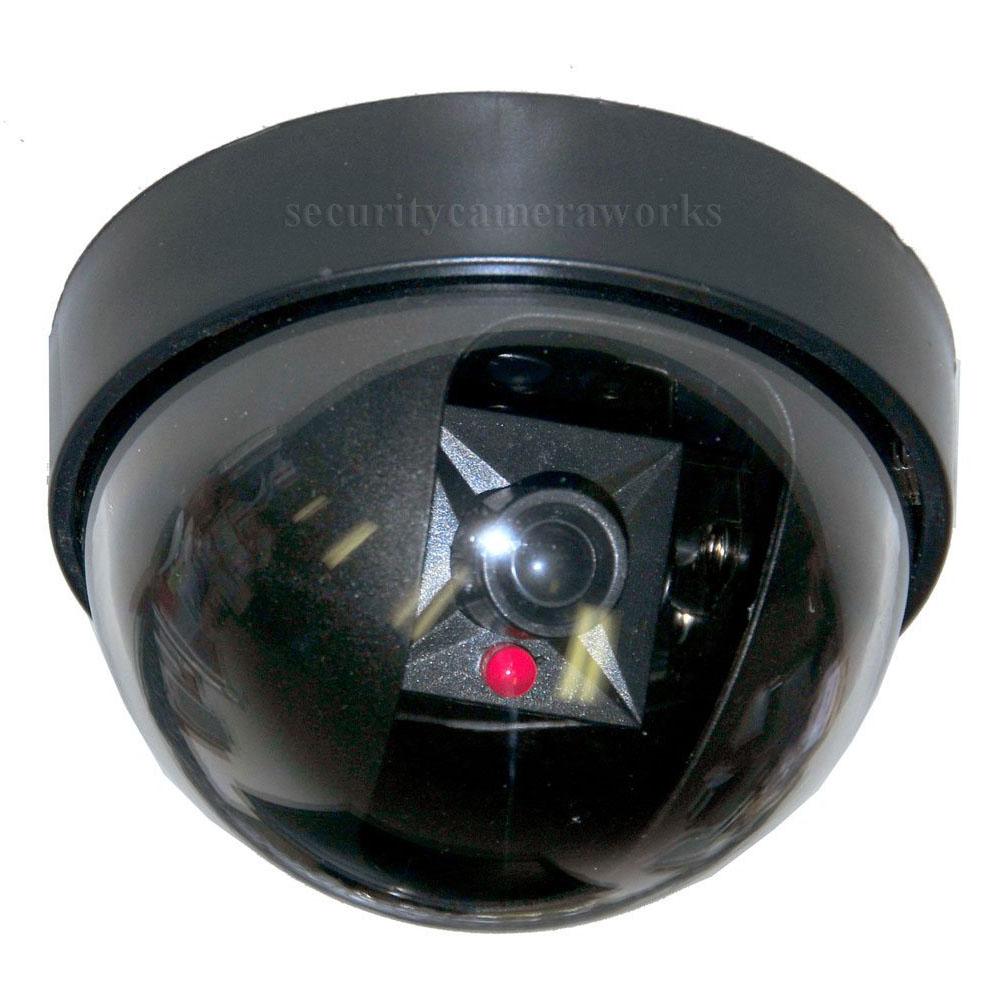 4 Dummy Fake Dome Security Camera W Flashing Led Indoor