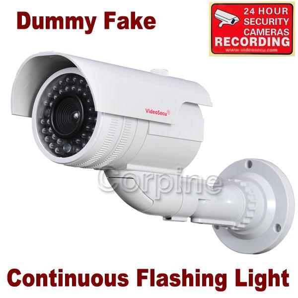 Fake Bullet Dummy Imitation Security Camera Simulated IR LED Blinking Light m4v