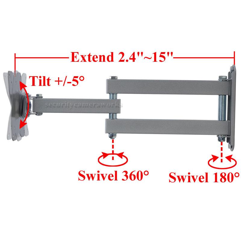"""Tilt Swivel TV Wall Mount for DELL 19-29/"""" E2215HV E2414Hr E2715H LED Monitor B0A"""