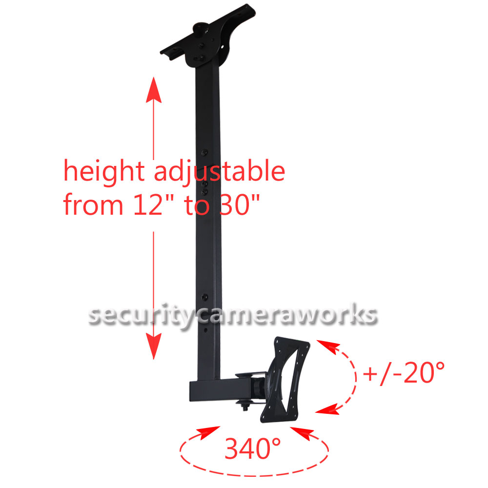 Lcd Ceiling Mount: Tilt Swivel TV Monitor Ceiling Mount LED LCD Bracket 19 22