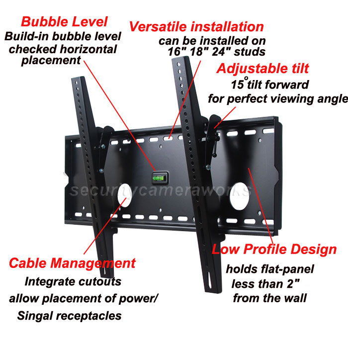 Package contents: TV Wall Mount, Standard Mounting Hardware, User Manual