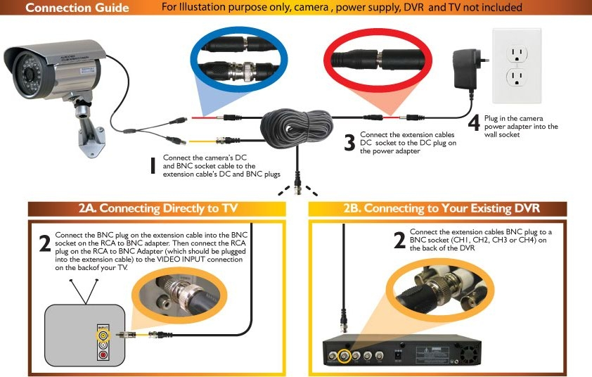 100ft Cctv Bnc Video Power Cable Dvr Surveillance Security