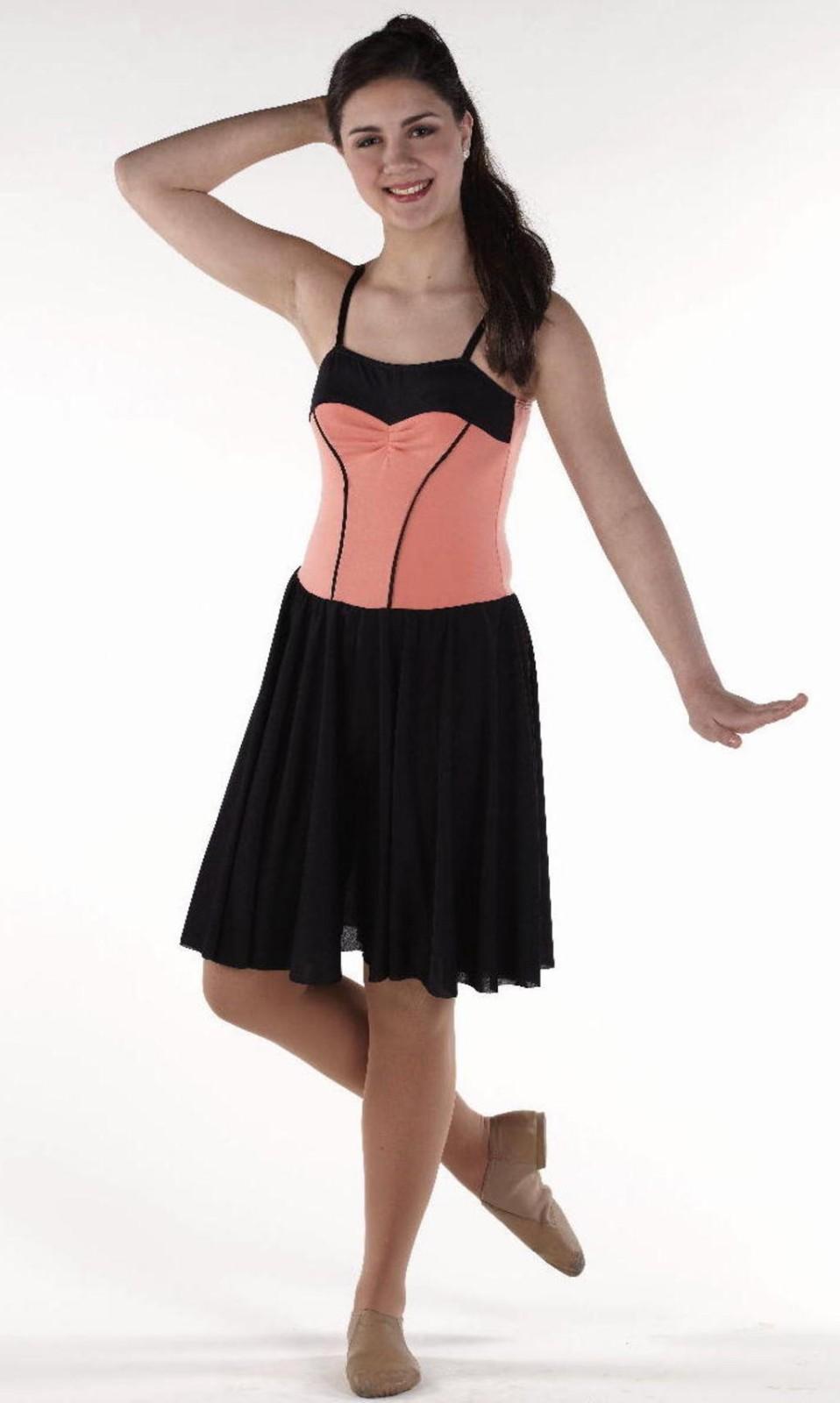 Vignette Coral Black Lyrical Ballet Dress Dance Costume ...
