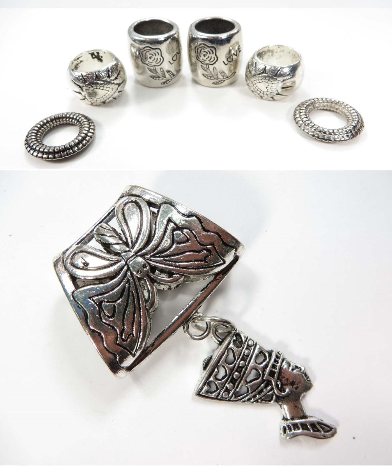 US Seller Egyptian goddess pendant slide scarf rings set DIY scarf jewelry